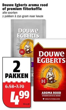 Douwe Egberts aroma rood of premium filterkoffie