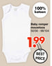 Baby romper mouwloos