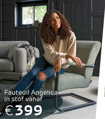 Fauteuil Angelica in stof
