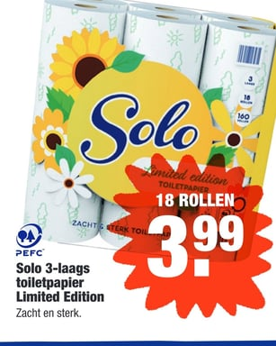Solo 3-laags toiletpapier Limited Edition