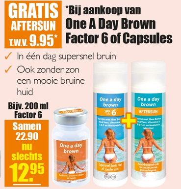 One A Day Brown Factor 6 of Capsules