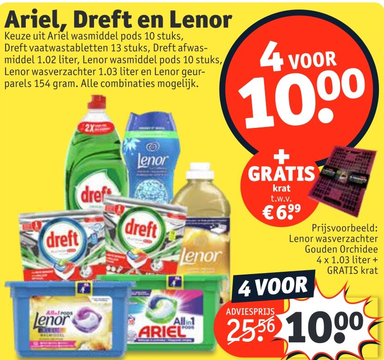 Ariel, Dreft en Lenor