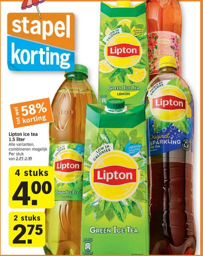 Lipton ice tea 1.5 liter