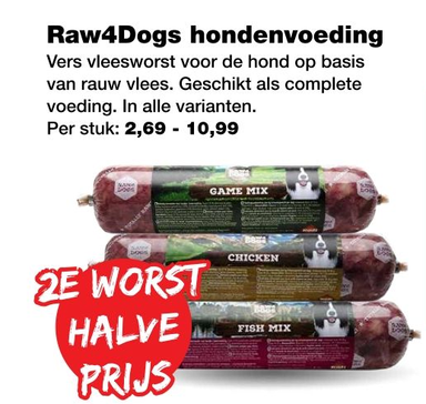 Raw4Dogs hondenvoeding