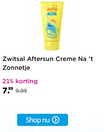 Zwitsal Aftersun Creme Na 't