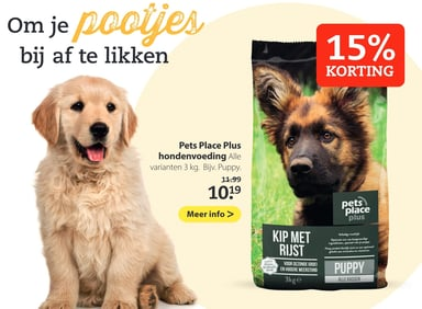 Pets Place Plus hondenvoeding