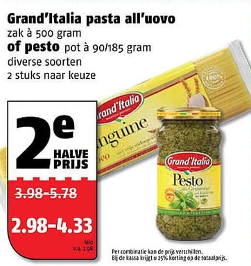 Grand'Italia pasta all'uovo of pesto