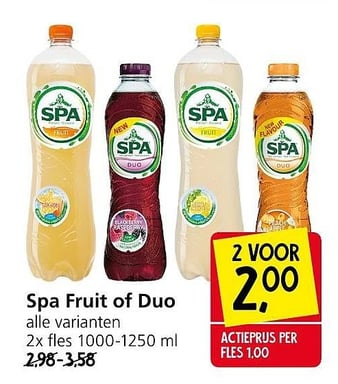 Spa Fruit of Duo
