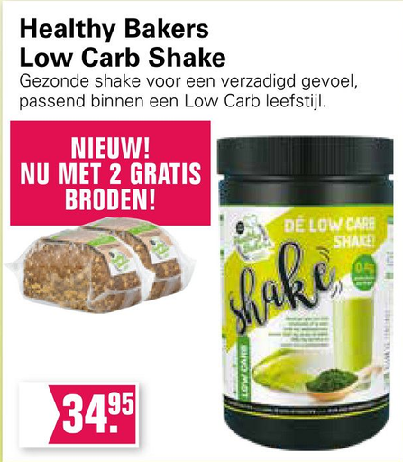 Healthy Bakers Low Carb Shake