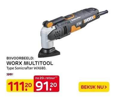 Worx Multitool Type Sonicrafter Wx680.