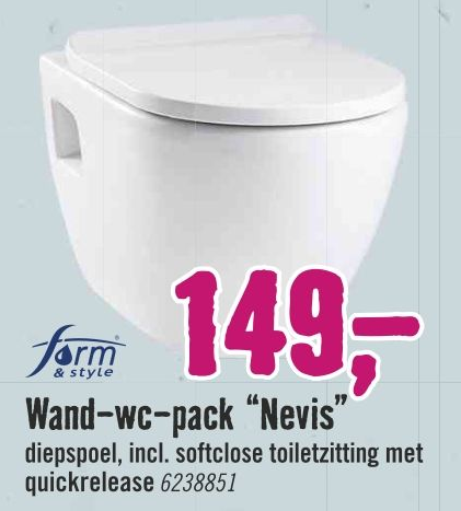 """Wand-wc-pack """"Nevis"""""""