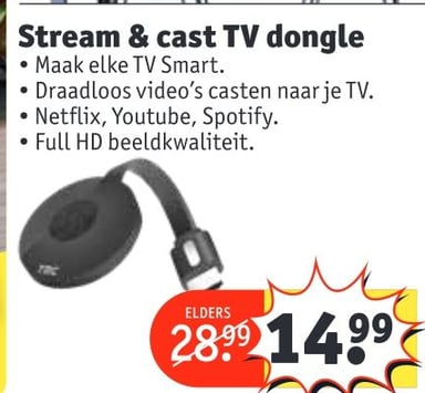 Stream & cast TV dongle