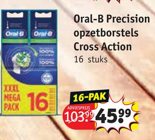 Oral-B Precision opzetborstels Cross Action
