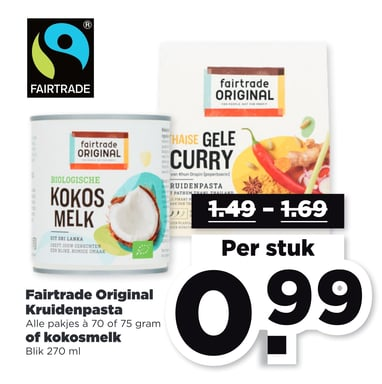Fairtrade Original Kruidenpasta of kokosmelk
