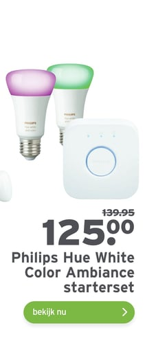 Philips Hue White Color Ambiance starterset