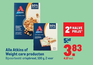 Alle Atkins of Weight care producten