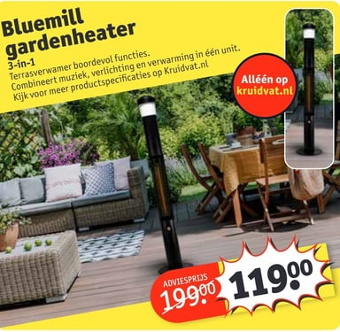 Bluemill gardenheater