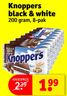 Knoppers black & white