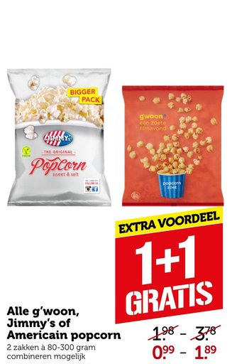 Alle g'woon, Jimmy's of Americain popcorn