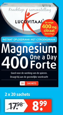 Magnesium One a Day 400 Forte