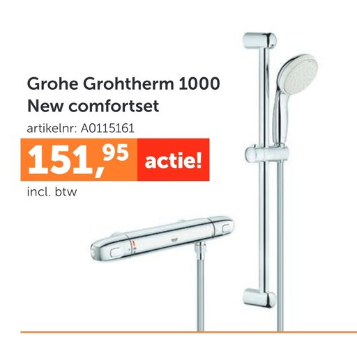Grohe Grohtherm 1000 New comfortset
