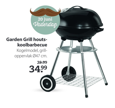 Garden Grill houts- koolbarbecue
