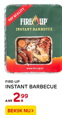 Fire-up instant barbecue