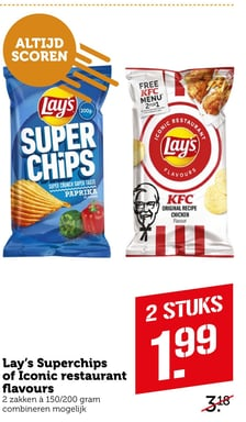 Lay's Superchips of Iconic restaurant flavours