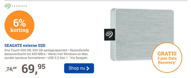SEAGATE externe SSD