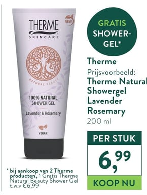 Therme Natural Showergel Lavender Rosemary