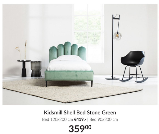 Kidsmill Shell Bed Stone Green