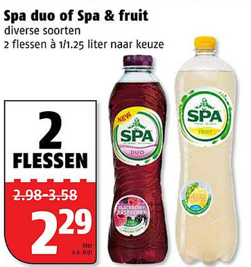 Spa duo of Spa & fruit
