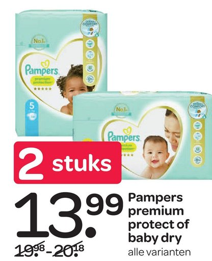 Pampers premium protect of baby dry S.