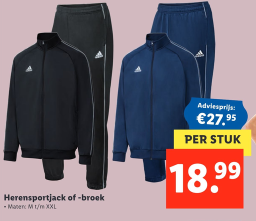 Herensportjack of -broek