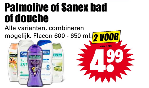 Palmolive of Sanex bad of douche