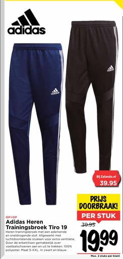 Adidas Heren Trainingsbroek Tiro 19 folder aanbieding