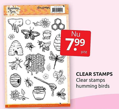 Clear stamps humming birds