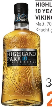 Highland Park 10 Years Viking Scars 70CL Whisky