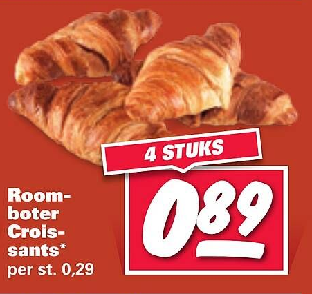 Roomboter Croissants*