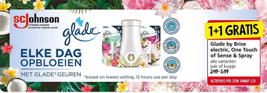 Glade by Brise electric, One Touch of Sense & Spray