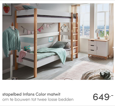 stapelbed Infans Color matwit