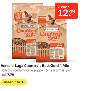 Versele-Laga Country's Best Gold 4 Mix