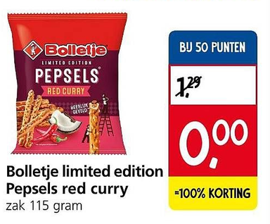 Bolletje limited edition Pepsels red curry