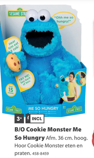 B/O Cookie Monster Me So Hungry