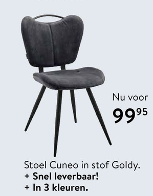 Stoel Cuneo in stof Goldy