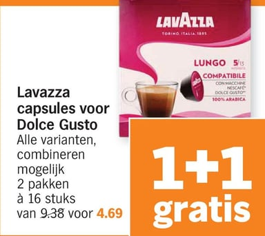 Lavazza capsules voor Dolce Gusto