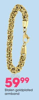 Stalen goldplated armband