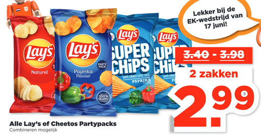 Alle Lay's of Cheetos Partypacks