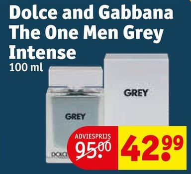 Dolce and Gabbana The One Men Grey Intense