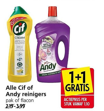Alle Cif of Andy reinigers